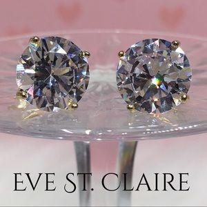 Jewelry - 14k yellow gold 8 CT diamond stud earrings